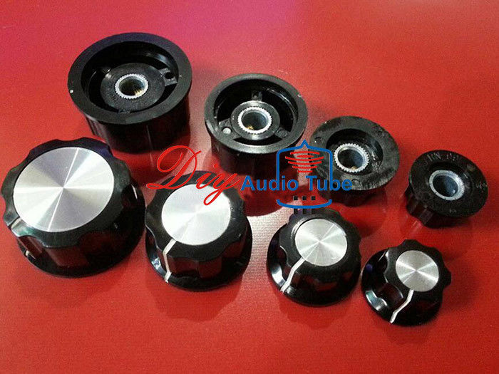 Large Boss Style Amplifier Control Knobs Plastic Fluted Black Turning Knob