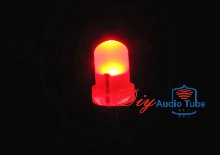 Red Color DIY LED Diode 3MM Diffused Round Top Urtal Bright Low Power Consumption